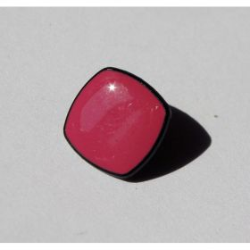 BOUTON CARRE ROSE 13MM