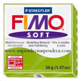 PATE FIMO SOFT VERT POMME  50