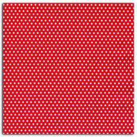 Coupon coton enduit rouge pois blancs LK08