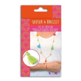 Kit de création sautoir et bracelet multicolore