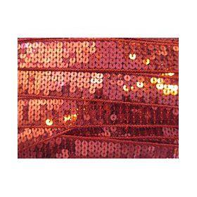 RUBAN SEQUINS rouge 2.5CM