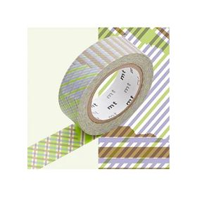 MASKING TAPE STRIPE CHEKED GREEN