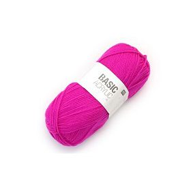 LAINE BASIC ACRYLIQUE ROSE FLUO