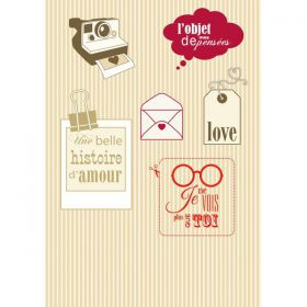 PLANCHE CLEAR 9X14 CM LOVE