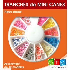 Tranches de Mini Canes Fleurs Pastel