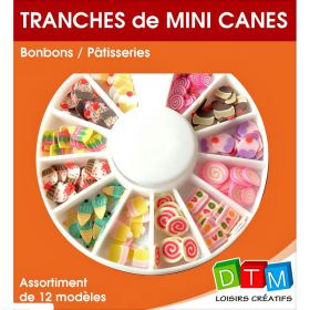 Tranches de Mini Canes Bonbons Patisseries