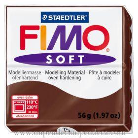 PATE FIMO SOFT CHOCOLAT 75