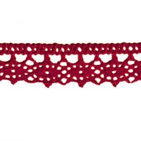 Dentelle fantaisie Rouge Bordeau 13mm