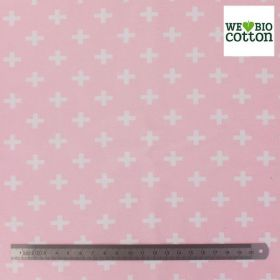Jersey Croix Blanches sur fond Rose