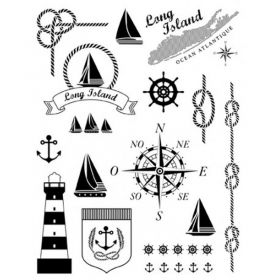 Tampon theme marin