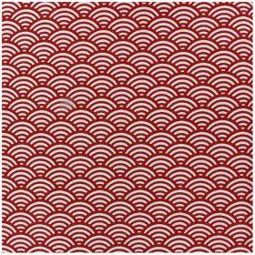Tissu cretonne suscis rouge