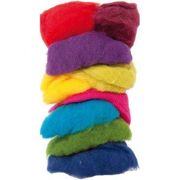 Laine mouton multicolore