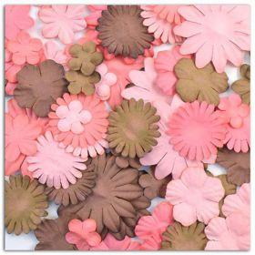 Fleurs décoratives marron