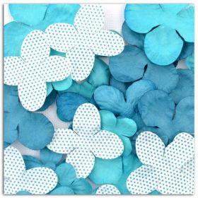 Fleurs décoratives bleues