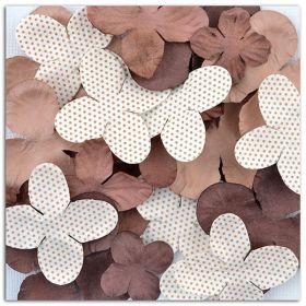 Fleurs décoratives marrons
