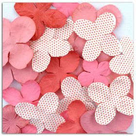 Fleurs décoratives rose