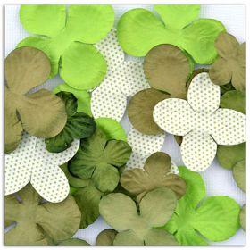 Fleurs décoratives verte