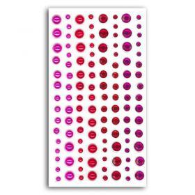Assortiment de strass et perles rose / rouge
