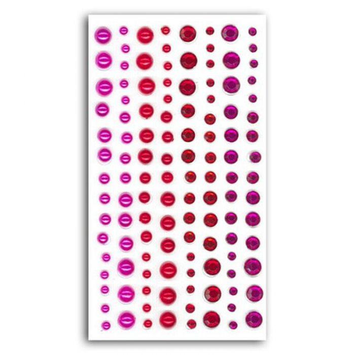 Assortiment de strass rose / rouge
