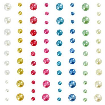 Assortiment de strass autocollants pastel