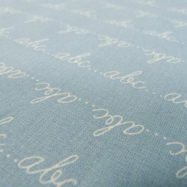 Tissu ABC bleu ciel