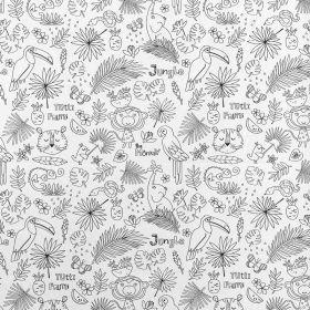 Tissu à colorier jungle