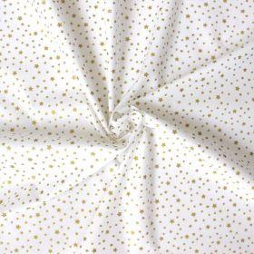 Tissu étoiles dorées
