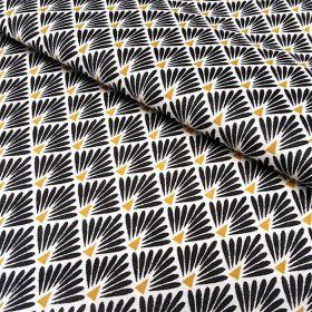 Tissu ecailles noires