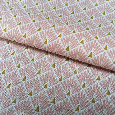 Tissu écailles roses