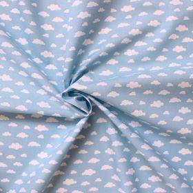 Tissu nuage fond bleu