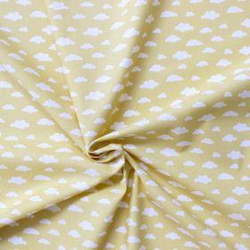 Tissu nuage fond jaune