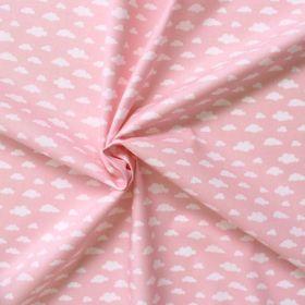 Tissu nuage fond rose