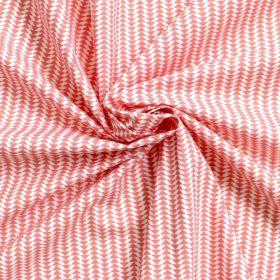 Tissu petits chevrons corail