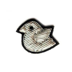 Broche oisillon argenté Macon Lesquoy