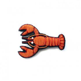 Broche homard rouge
