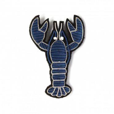 Broche homard bleu Macon Lesquoy