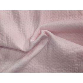 Jersey piqué rose pale