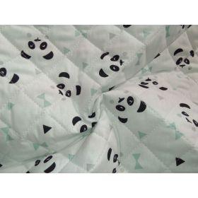 Tissu matelassé panda