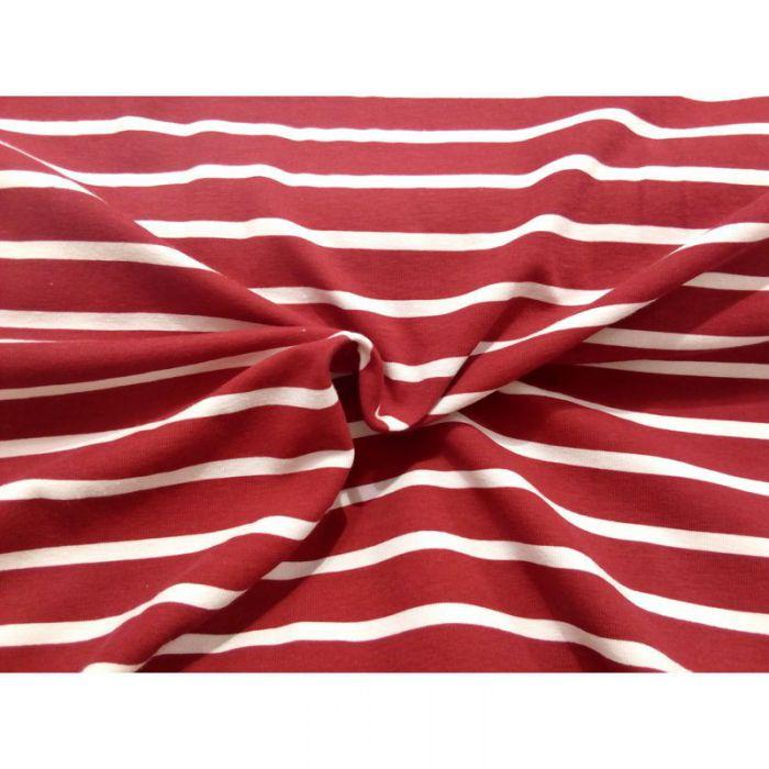 Jersey marin rouge rayé blanc