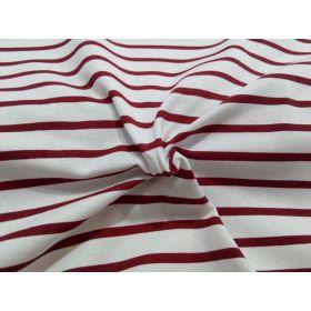 Jersey marin blanc rayé rouge