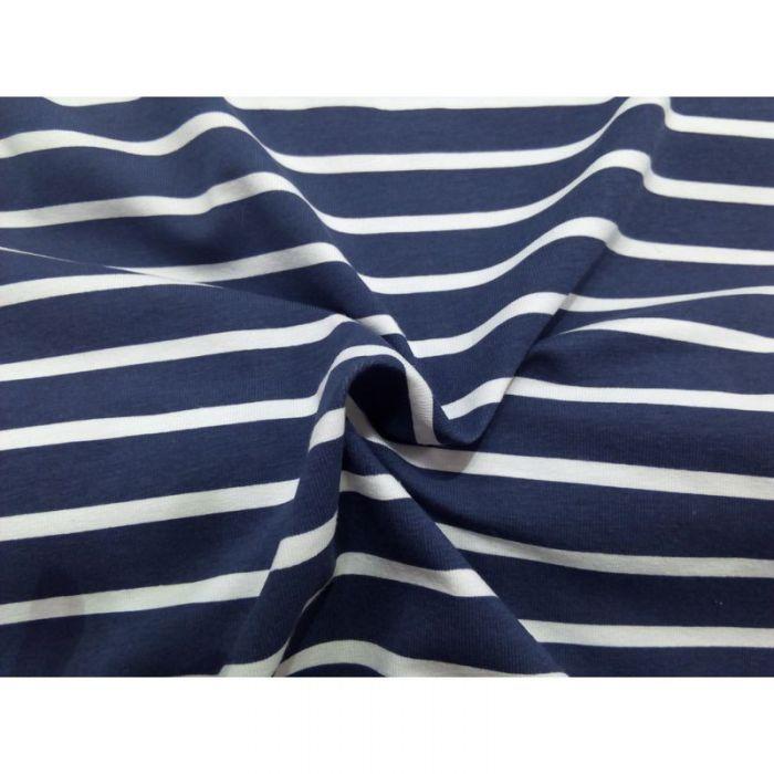 Jersey marin bleu rayé blanc