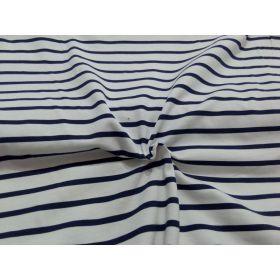 Jersey marin blanc rayé bleu