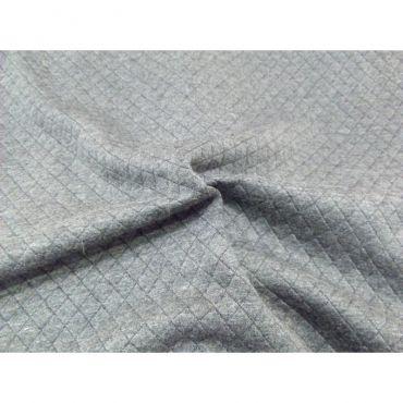 Jersey matelassé gris envers noir