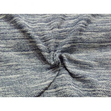 Jersey maille bleu chine