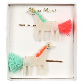 2 barrettes licornes