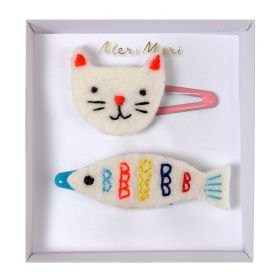 Barrette chat et poisson