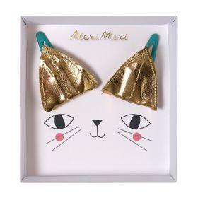 2 barrettes oreilles de chat