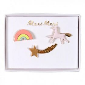 3 pin's émaillé licorne arc en ciel
