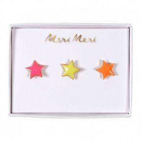 3 pin's émaillés étoiles