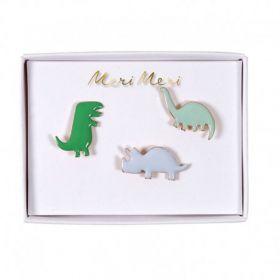 3 pin's émaillés dinosaures